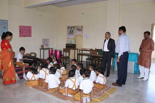 Asstant secretary CBSE Mr. Chandra Shekher visited our school for Affiliation Extention.